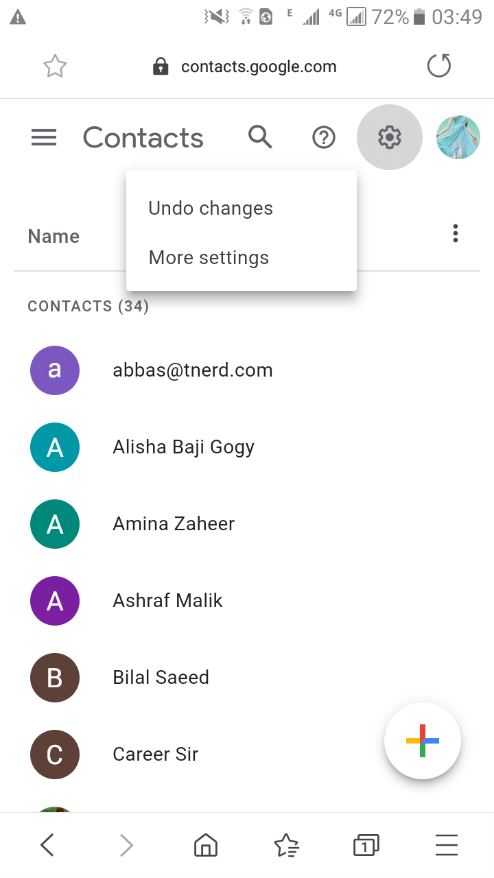 get back your lost contact on android phone