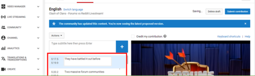 how to add subtitles to other youtube video step (4)