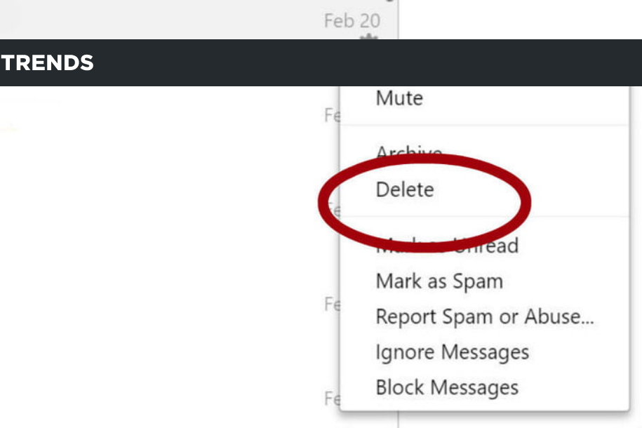 how to delete messages from Facebook Messenger (2)