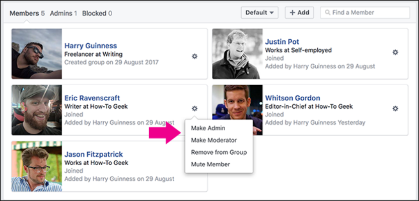 how to make someone an admin on Facebook group (2)