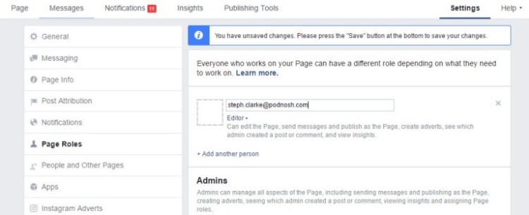 how to make someone an admin on Facebook page who is not your friend (3)