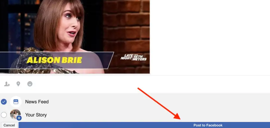 how to post a youtube video on Facebook (3)