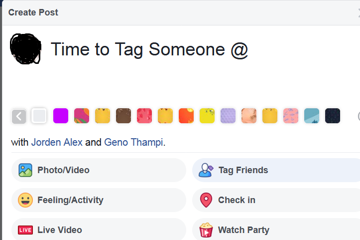how to tag someone in facebook post